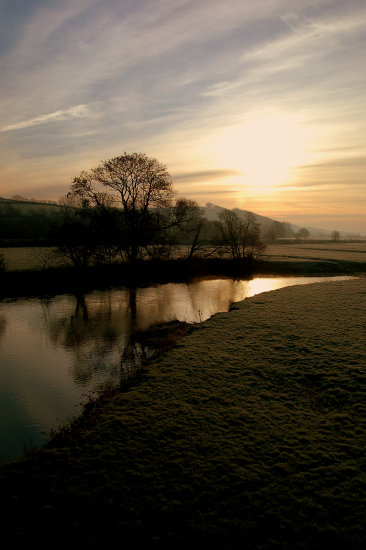 frosty morning river taw north devon