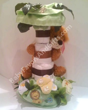 Wild Thing GUND Monkey Diaper cake