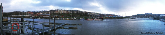Whitby North Yorkshire river esk
