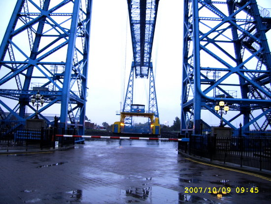 Middlesbrogh bridge transport tees river