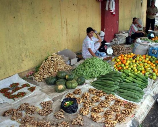 market ethnic vegetables