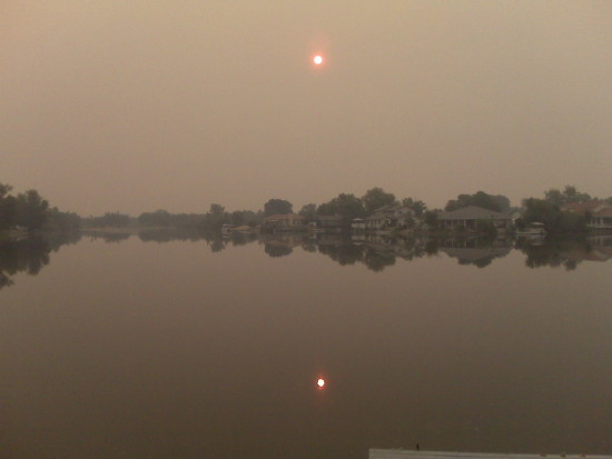 fires in california smokey smoke lake where is the sun