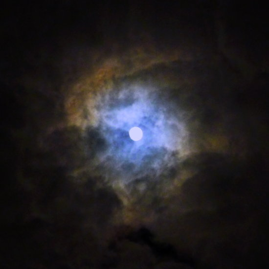 sky full moon clouds