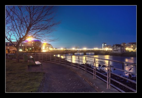 Limerick Clancy Strand Night Landscape River Park