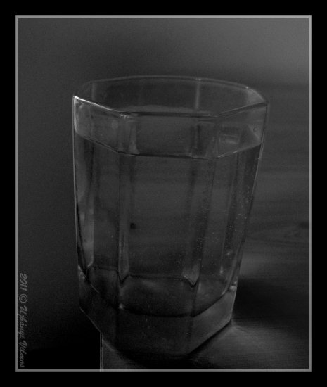 still life table glass water surreal tribute retro closeup bw