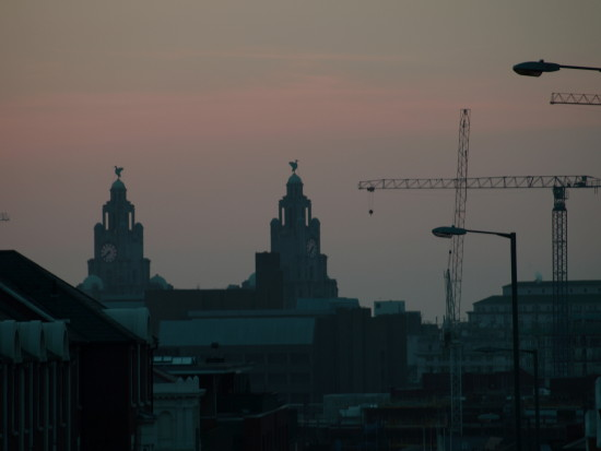 sunset cityscape architecture liverpool