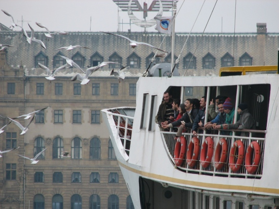 The ship in İstanbul