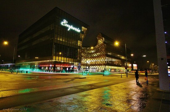 Emporia Night Light Malmoe Hyllie Skane Sweden 2012 November