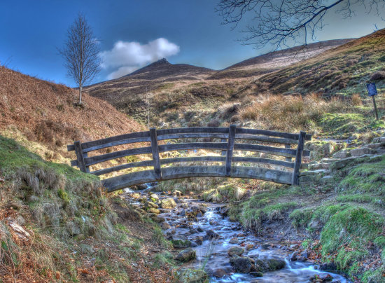 Peak District Derbyshire Golden Clough Kinder Edale