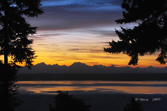 sunrise camano island cascade mountains