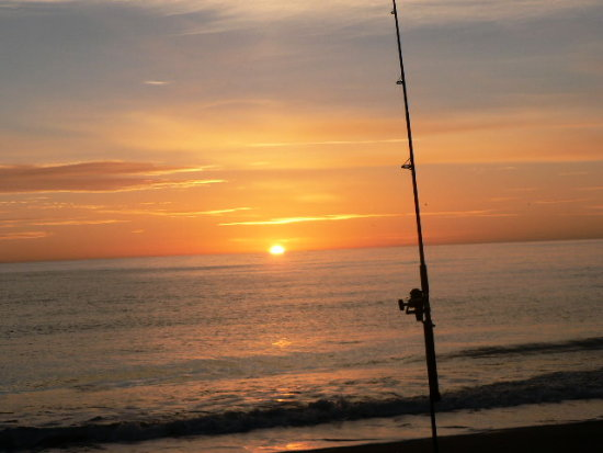 Fishing on Sunrise at Blind river beach