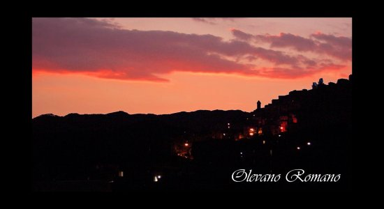 This is my favourite Italian village, Olevano Romano..at sunset ;-))