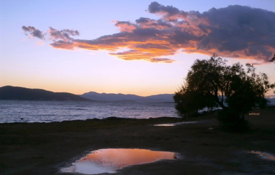 Aegina Hellas Greece sunset Perivola