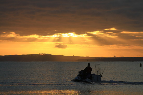 sunrise jetski fishing