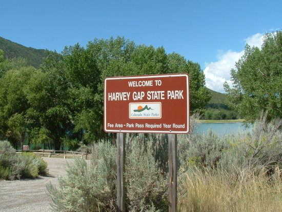 Harvey Gap Dam and Reservior Colorado