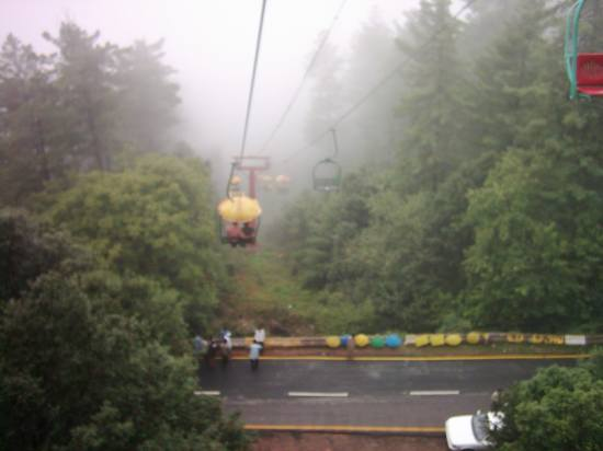 Vacation Green Greenery Beauty Nature Fog Chairlift Hill Road Forest Pakistan