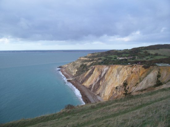 cliff sea sky sand isleofwight iow