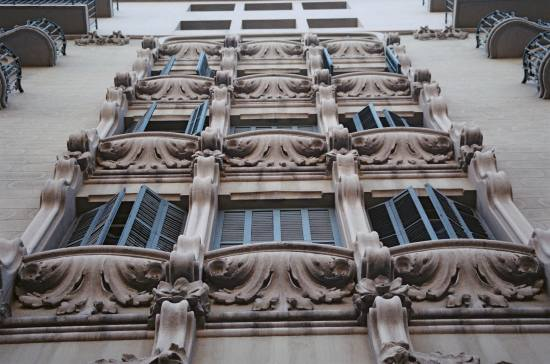 Barcelona balconies repetition window faade architecture