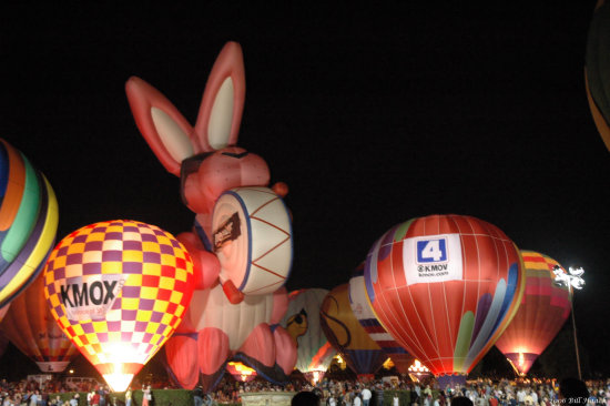 stlouis missouri us usa balloon hotair night sport 2006