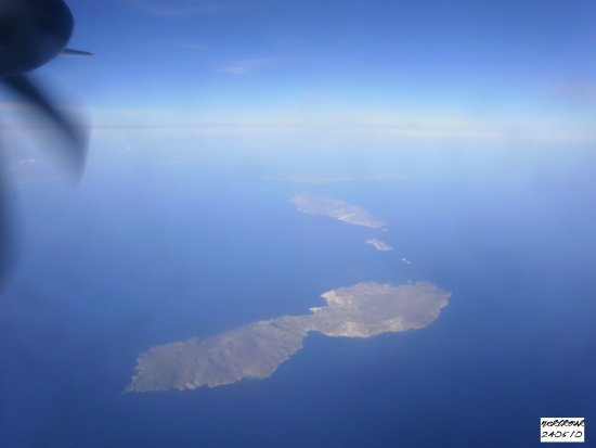 Flying to Crete Hellas Greece