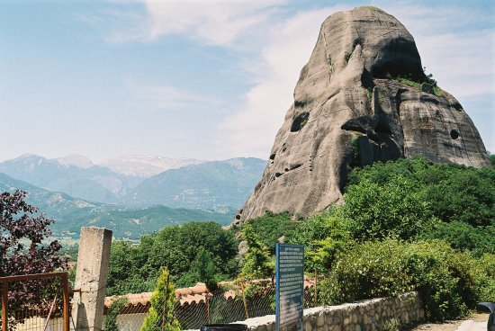 greece mountains meteora
