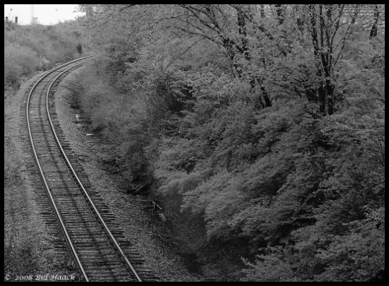 stlouis missouri us usa landscape traintrack vroom bw FeeFee bh 2008