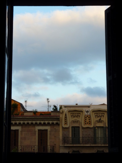 View from the window in Gran Via ... July 2009
