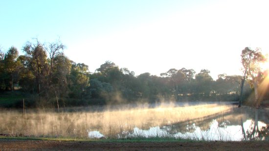 smoke water fog farm dam perth hills littleollie