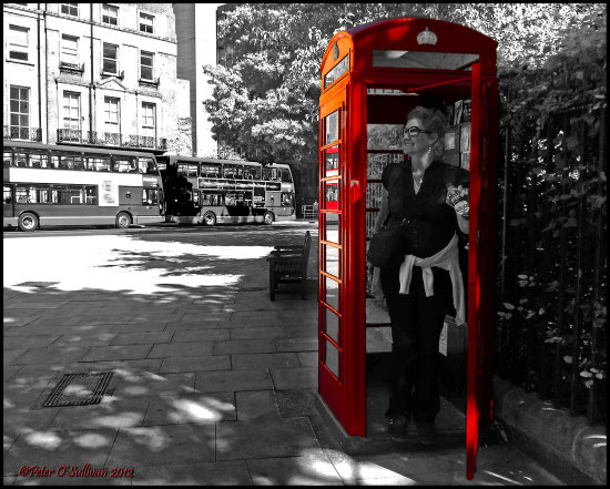 bwcolourfriday London Red Phonebox funfriday