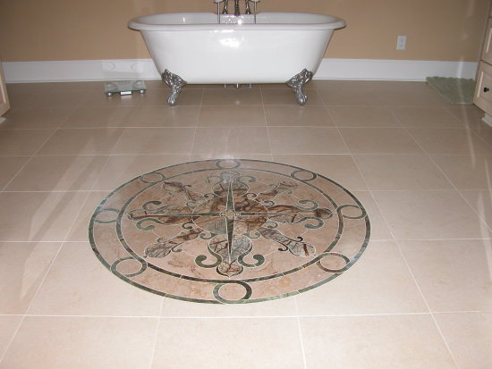 Select Beautiful Custom Cut Medallions From Precision Cutting - Custom cut ceramic tile