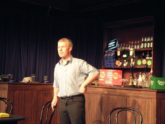 "Neil as the pub landlord in ""Two"", Highbury Little Theatre, Sutton Coldfield, 27 May 2006."