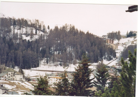 The andre side of the hill is appropriate for St Moritz.