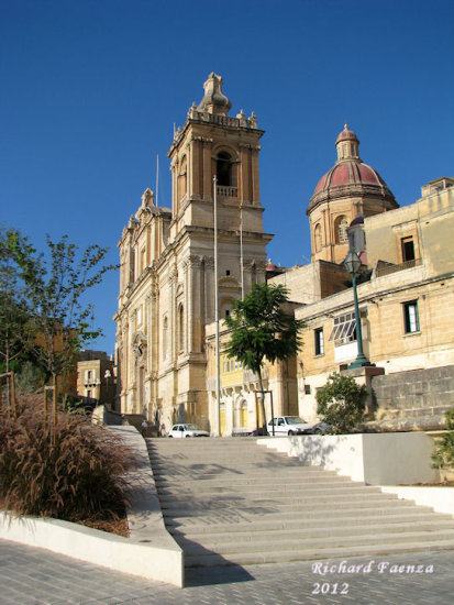 Saint Lawrence church in Vittoriosa, Malta.