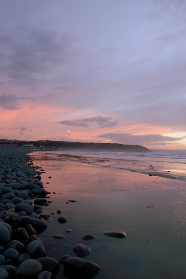 westward ho devon evening landscape