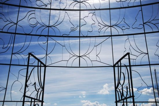 blue sky gate Heaven clouds