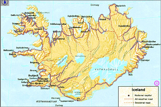 iceland map track