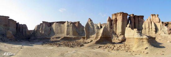 Iran Qeshm Island nature stars valley panorama