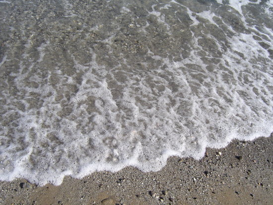 sea wave crete nature island sand calm water