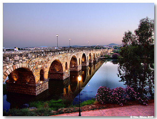 merida spain espanha ponte bridge rio river guadiana