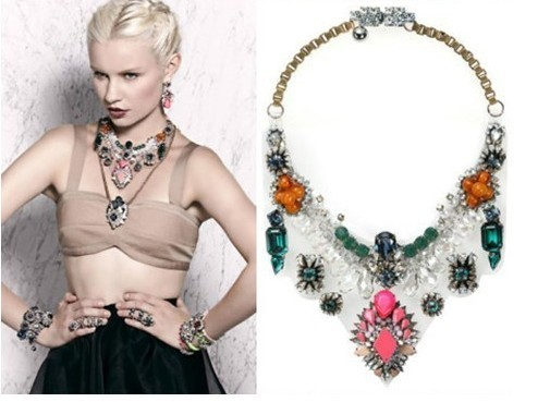 New Glisten Gem Crystal Fake Collar Transparent PVC Necklace Free Shipping