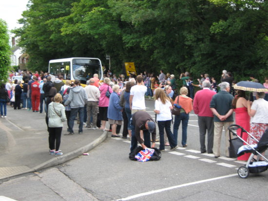 Front Runners Torch Relay Bletchingley Olympics Coach Summer Games 2012 Surrey