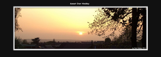 Sunset Over Hinckley April 2011 Rob Hickey