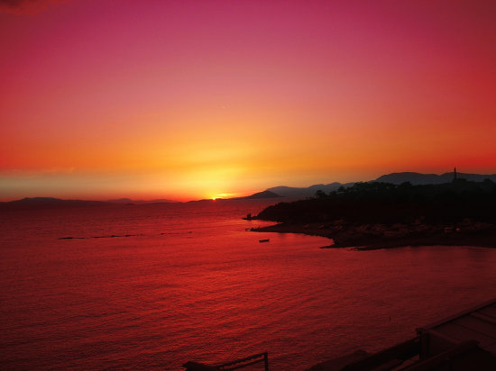 aegina island greece sunset