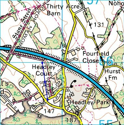 Headley Court - Bridleway now closed