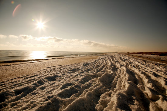 Kge strand beach winter saltwater ice