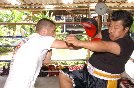 Master Toddy Tiger Muay Thai training camp Magical Ray Elbe Phuket Thailand