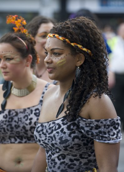 Caribbean carnival in Nottingham today,