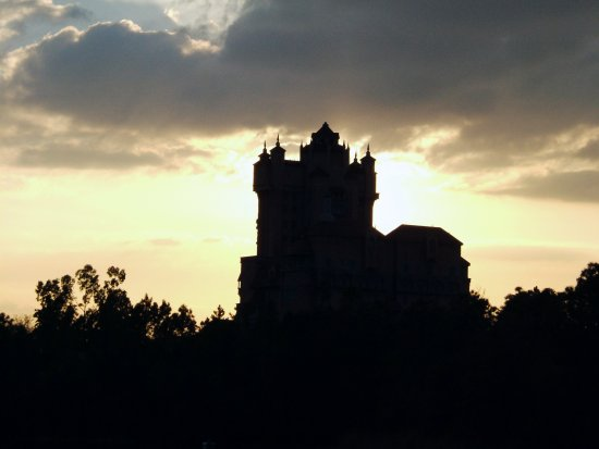 Tower of Terror at sunset