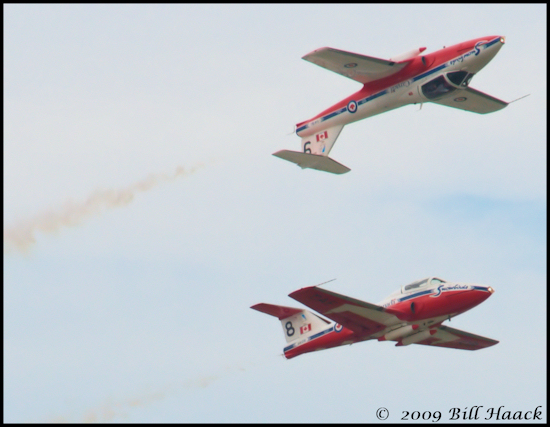 stlouis missouri us SAFB airshow Canadian Air Force Snowbirds aerobatic 091909