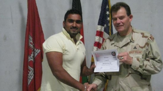 QCS certificate receiving from deputy construction  director of US Army Corps of Engineers